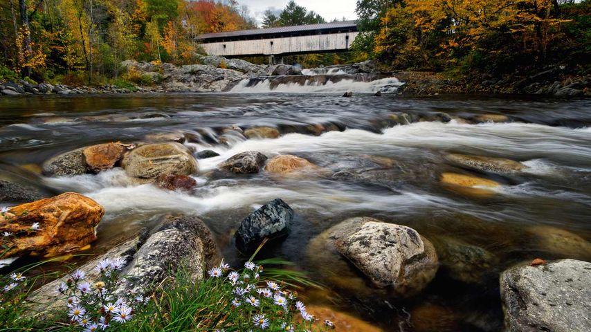 「ワイルド・アモヌーザック川」アメリカ, ニューハンプシャー州, バース