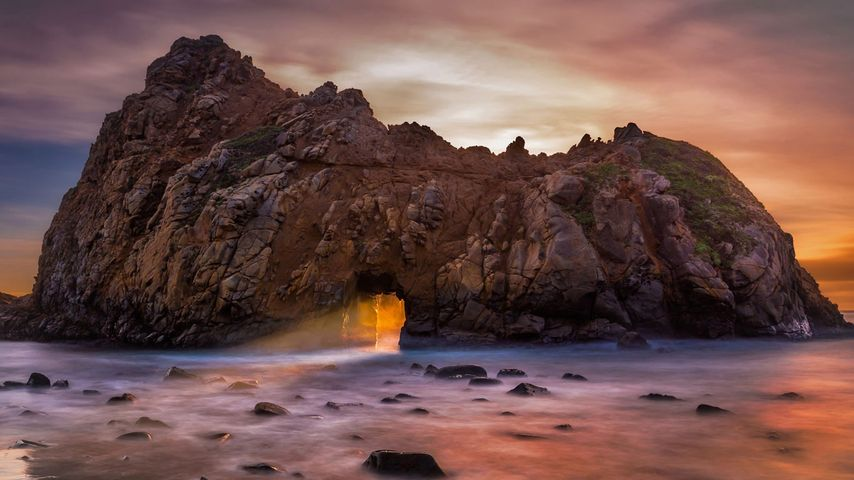 「キーホールアーチ」アメリカ, カリフォルニア州