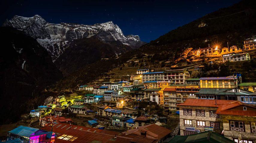 「ナムチェバザール」ネパール, サガルマータ国立公園
