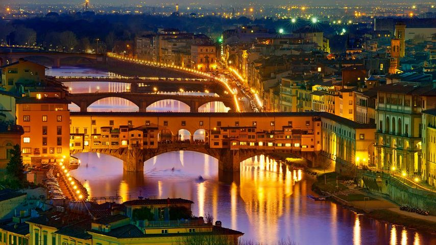 「ヴェッキオ橋」イタリア, フィレンツェ