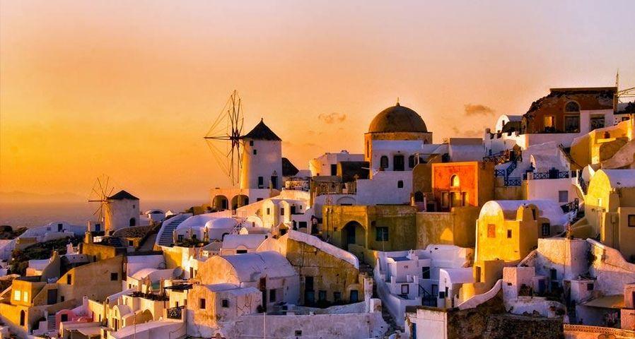 「イアの夕暮れ」ギリシャ, サントリーニ島