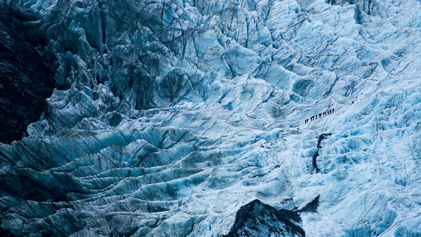「フランツ・ジョセフ氷河」ニュージーランド