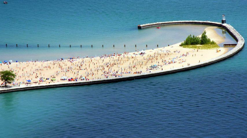 「ノース・アベニュー・ビーチ」アメリカ, イリノイ州, シカゴ