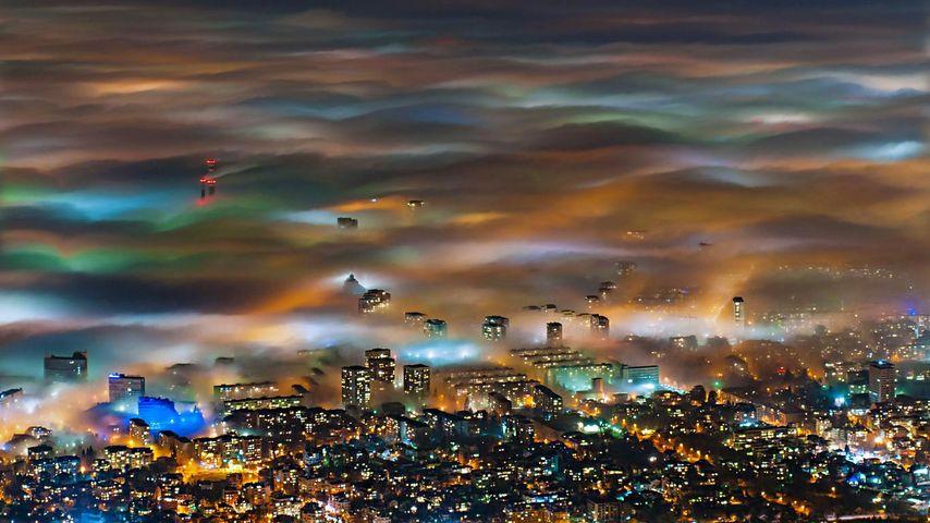 「霧に沈む街」ブルガリア, ソフィア