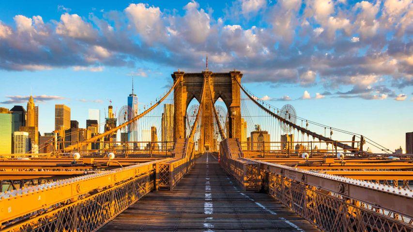 「ブルックリン橋」米国ニューヨーク市