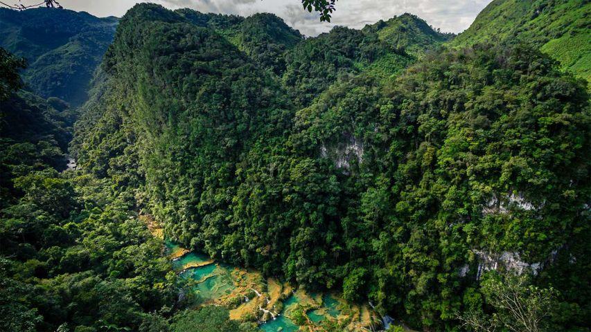 「セムクチャンペイ国立公園」グアテマラ