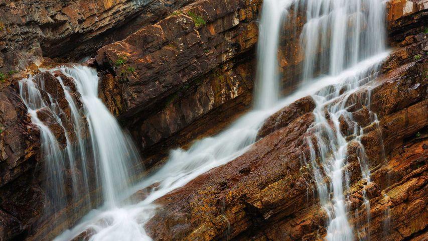 「キャメロン滝」カナダ, アルバータ州