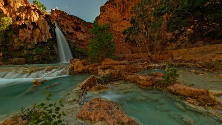 「ハバス滝」アメリカ, アリゾナ州