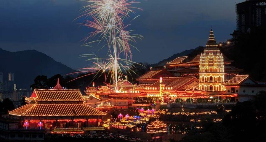 「極楽寺の花火」マレーシア, ペナン島