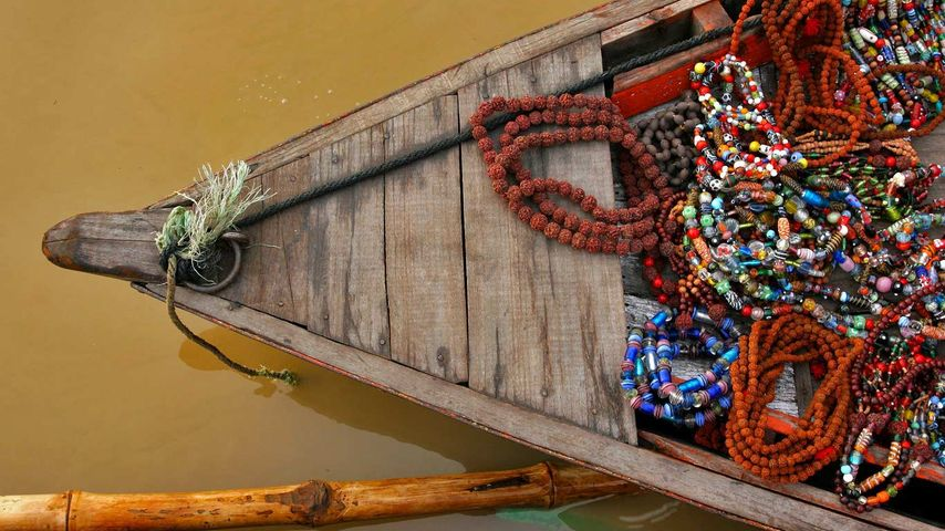 「ガンジス川のボート」インド, ヴァーラーナシー