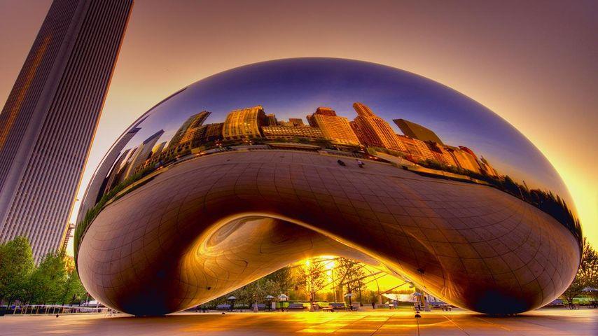 「クラウド・ゲート」アメリカ, イリノイ州, シカゴ