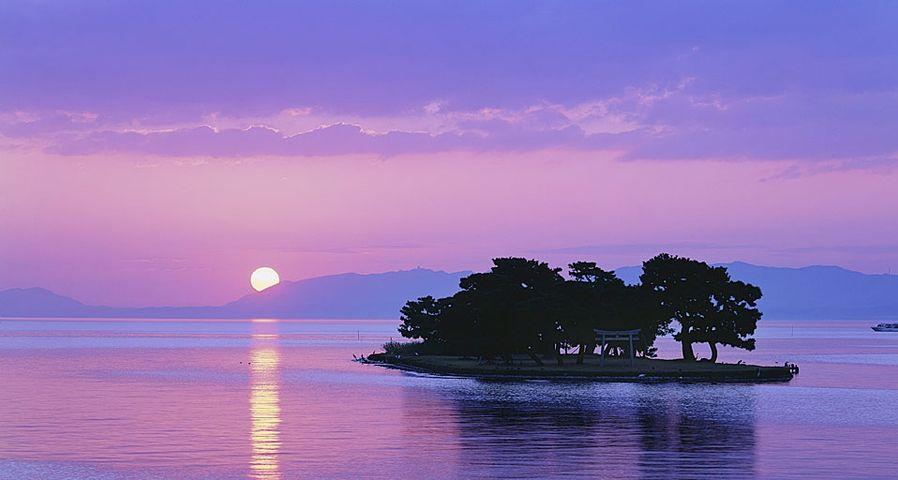 「宍道湖の夕暮れ」島根, 松江市