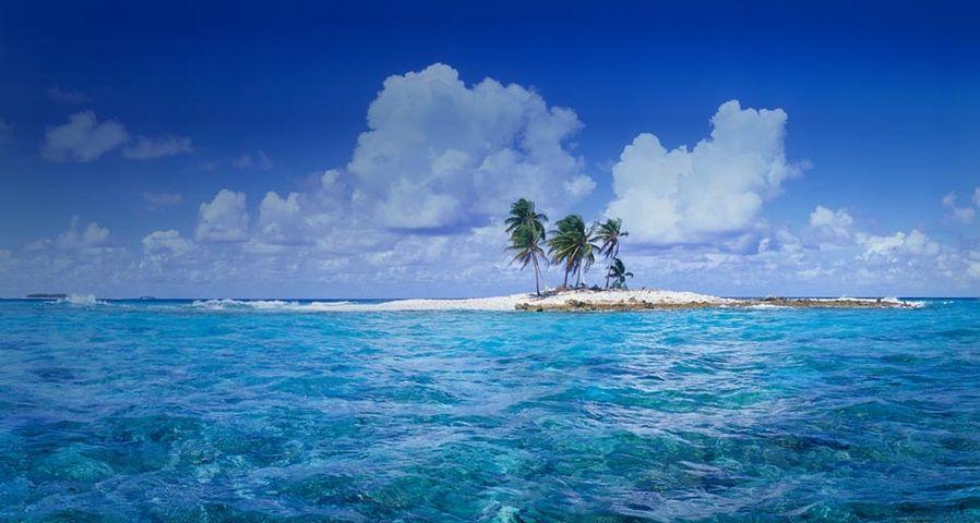 「フナフティ環礁の小さな島」ツバル