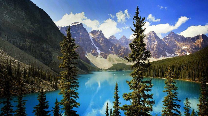 「モレーン湖」カナダ, アルバータ州