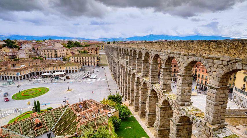 「セゴビアのローマ水道橋」スペイン, カスティーリャ・レオン州