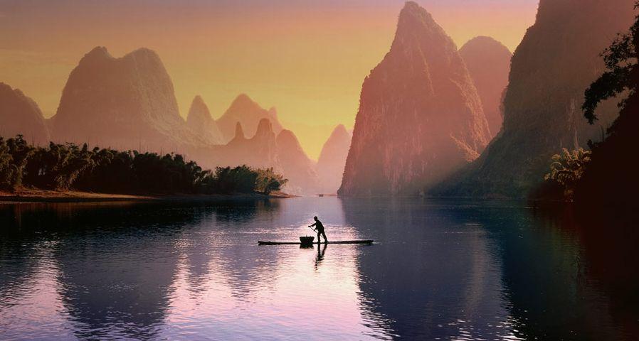 「桂林の漁師」中国, 広西チワン族自治区