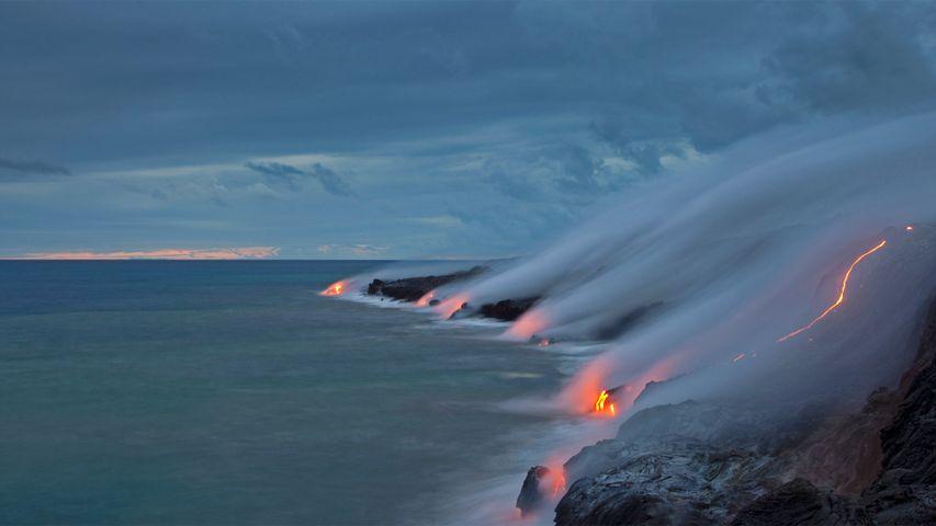 「ハワイ火山国立公園」米国ハワイ州, ハワイ島
