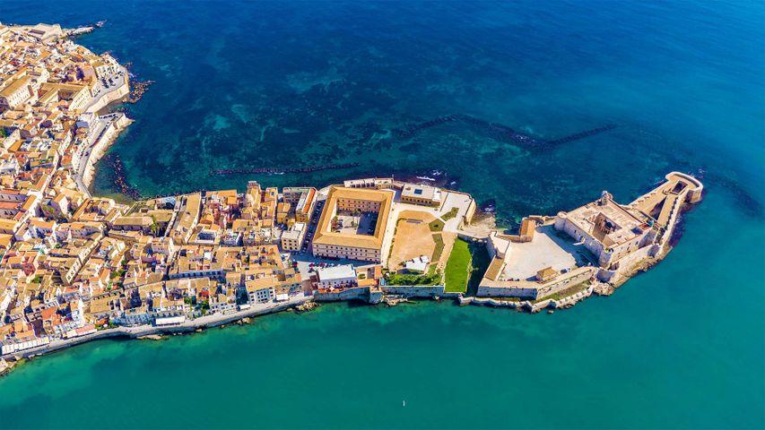 「シラクサのオルティージャ島」イタリア, シチリア
