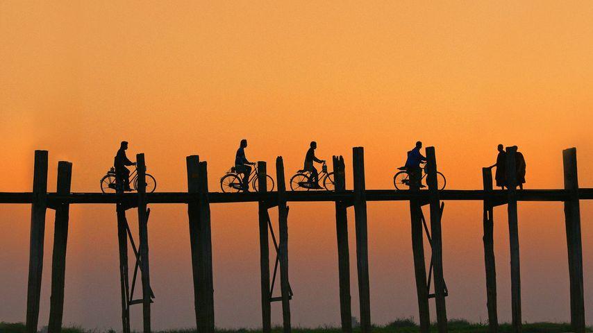 「ウー・ベイン橋」ミャンマー,アマラプラ