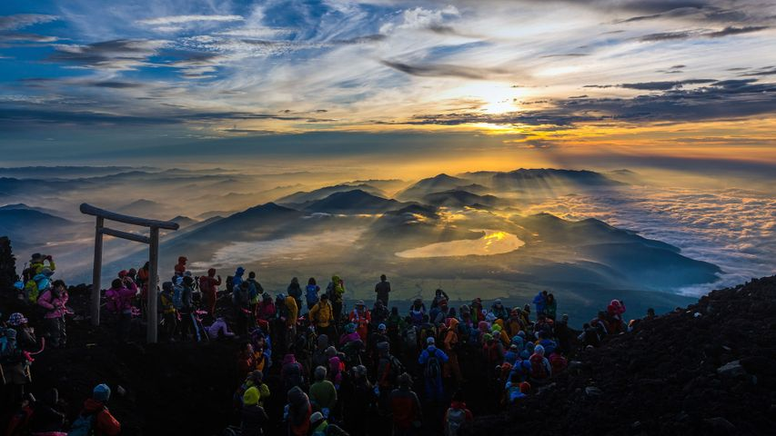 「富士山頂からのご来光」富士山