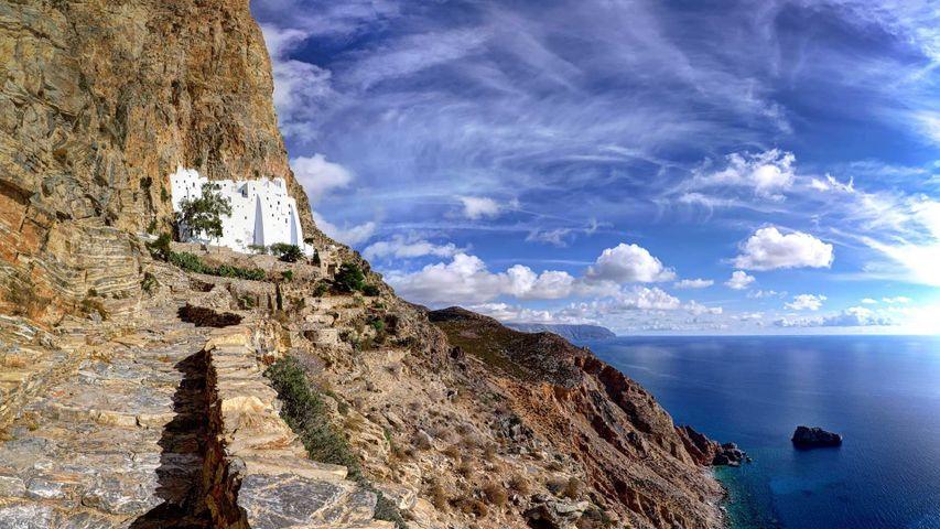 「パナギア・コゾヴィオティッサ修道院」ギリシャ, アモルゴス島