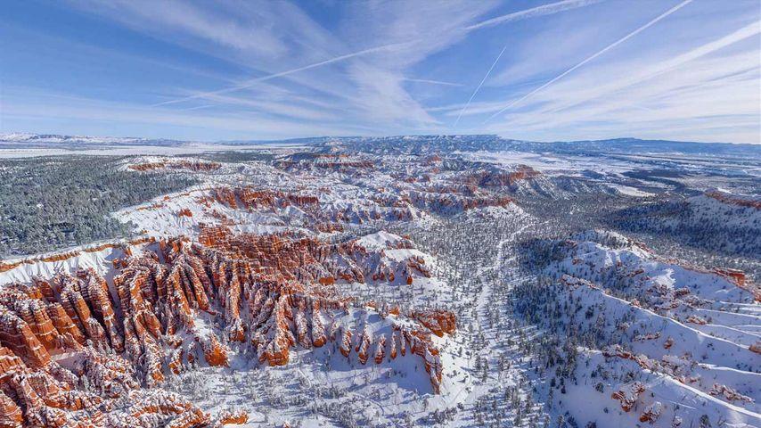 「冬のブライスキャニオン国立公園」アメリカ, ユタ州