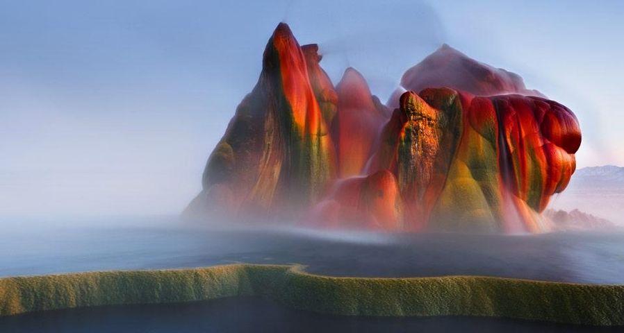 「フライガイザー」アメリカ, ネバダ州, ブラックロック砂漠