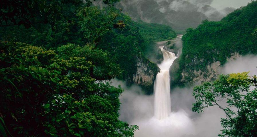 「キホス川と滝」エクアドル, カヤンベ