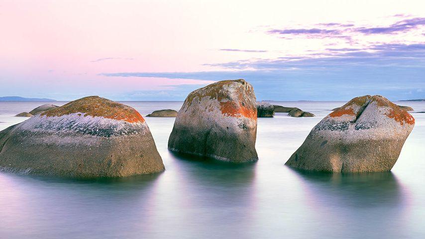 「浜辺の花こう岩」オーストラリア, フリンダース島