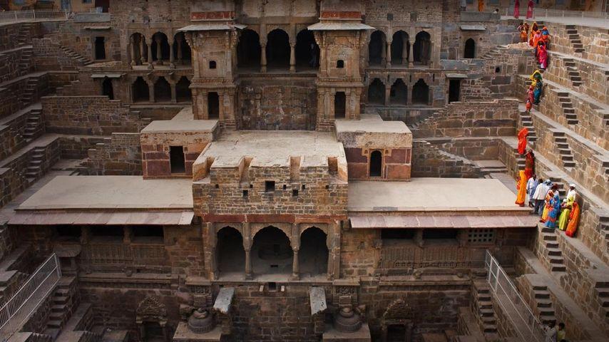 「チャンド・バオリ階段井戸」インド, ラージャスターン