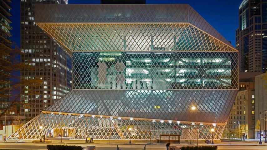「シアトル公立中央図書館」米国ワシントン州, シアトル