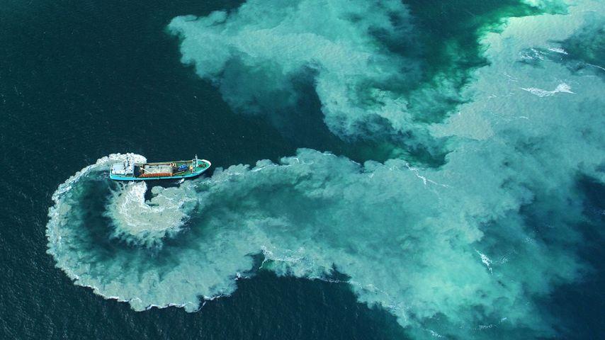 「浚渫船」フランス, グレナン諸島沖