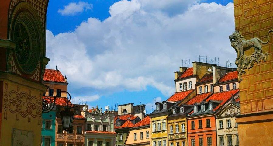 「旧市街のマーケット・プレイス」ポーランド, ワルシャワ