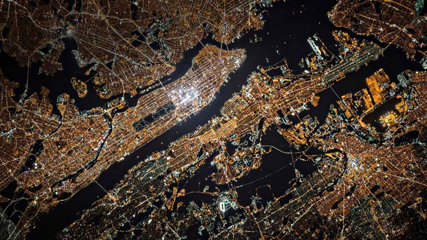 「ISSから撮影したニューヨーク」米国ニューヨーク州