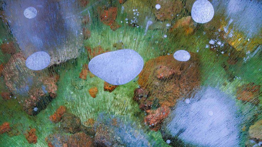 「溶岩洞の氷床」米国, カリフォルニア州