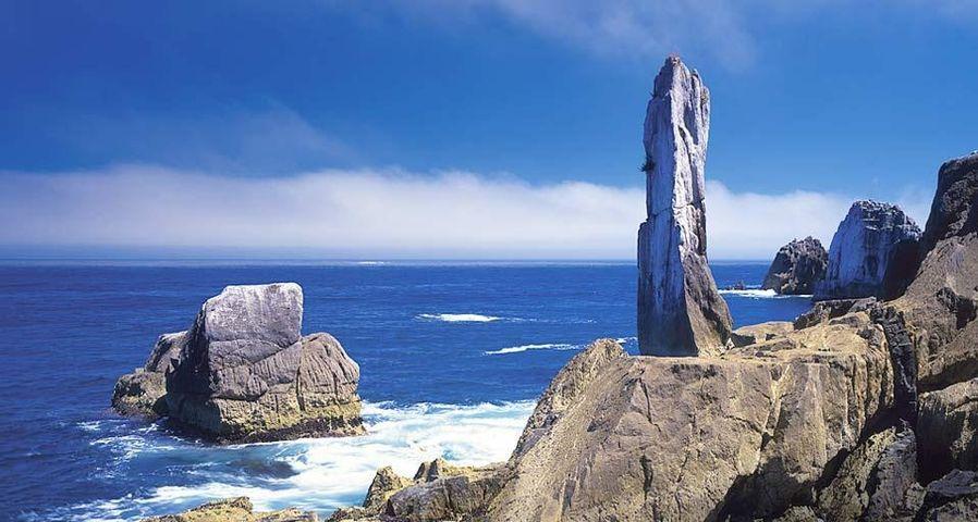 「巨釜半造の折石」宮城, 気仙沼, 陸中海岸国立公園