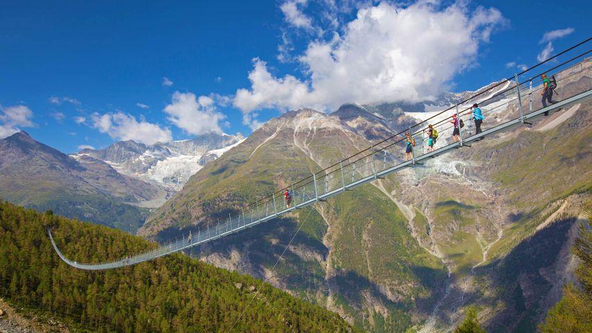 「チャールス・クオーネン吊り橋」スイス, ヴァリス州