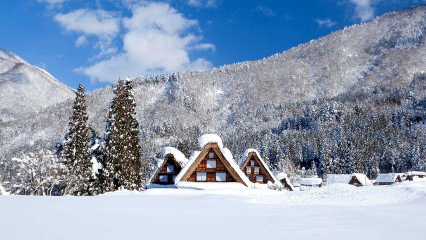 「雪の白川郷」岐阜, 白川村