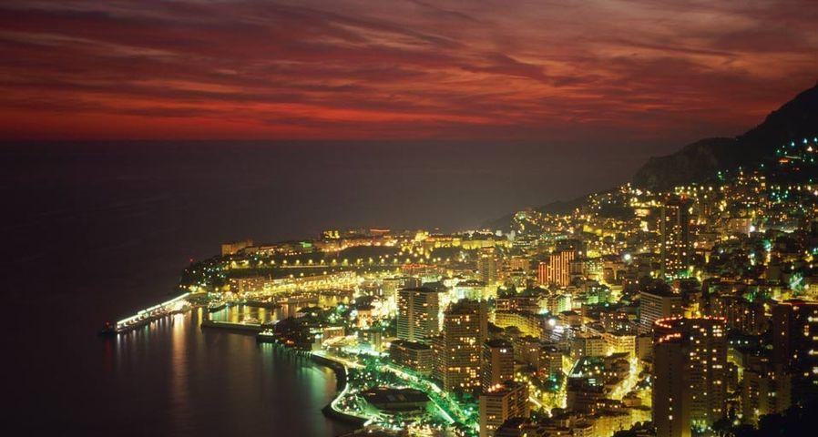 「モンテカルロの夜景」モナコ公国
