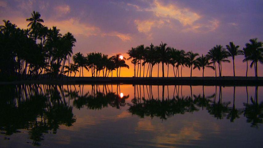 「コナ・コーストの夕暮れ」アメリカ, ハワイ島