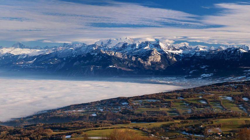 「モンブラン山塊」フランス, サレーブ山