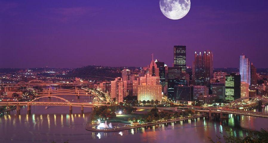 「ピッツバーグの夜景」アメリカ, ペンシルバニア州