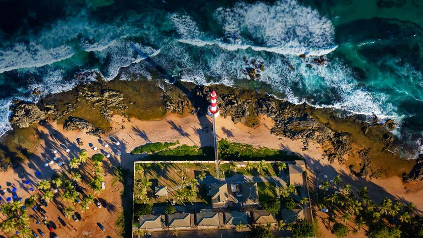「イタプアン灯台」ブラジル, バイーア州
