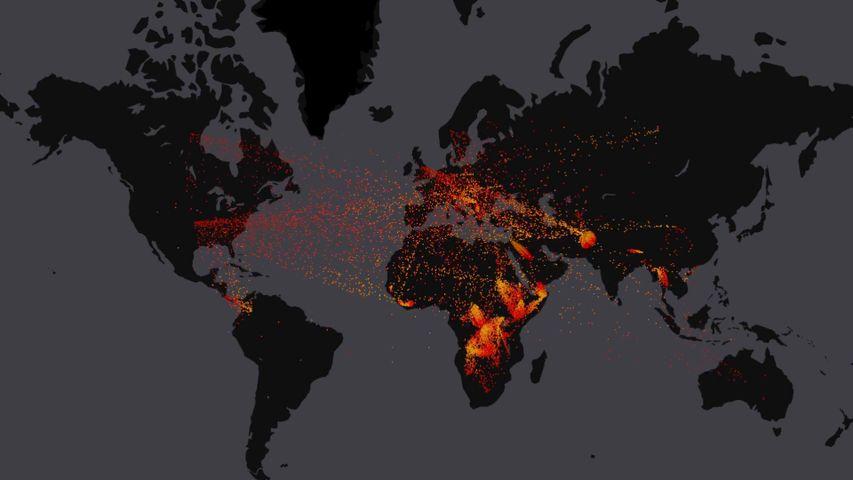 「2000年から2016年の難民総数」
