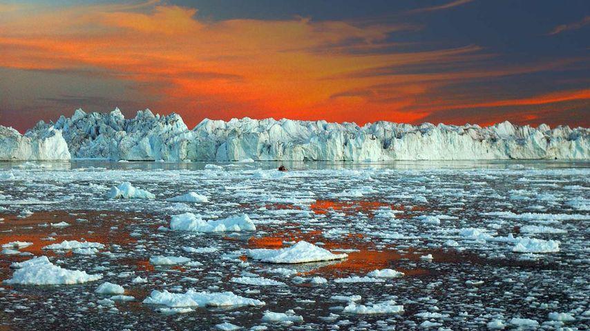 「イルリサット氷河」グリーンランド