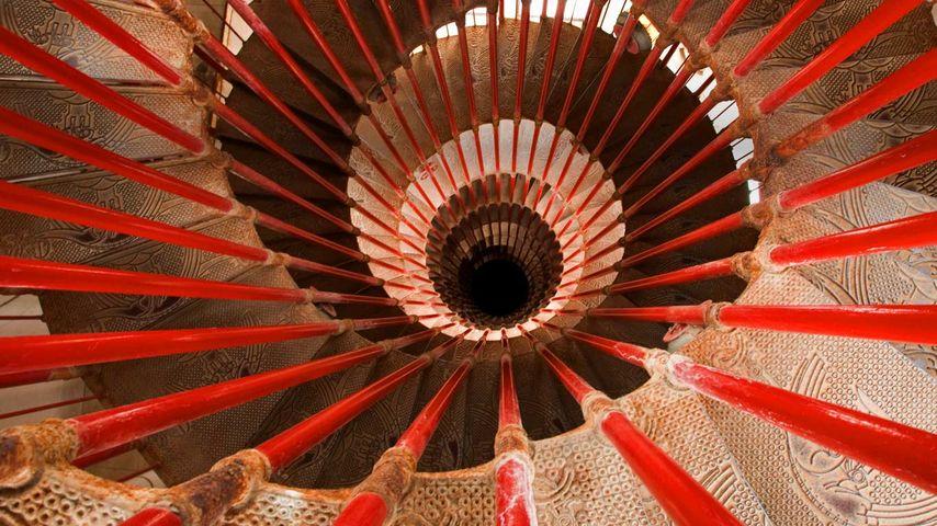 「リュブリャナ城のらせん階段」スロベニア, リュブリャナ
