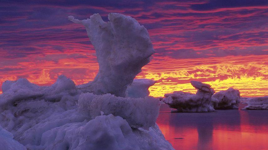 「ハドソン湾の氷」カナダ, マニトバ州