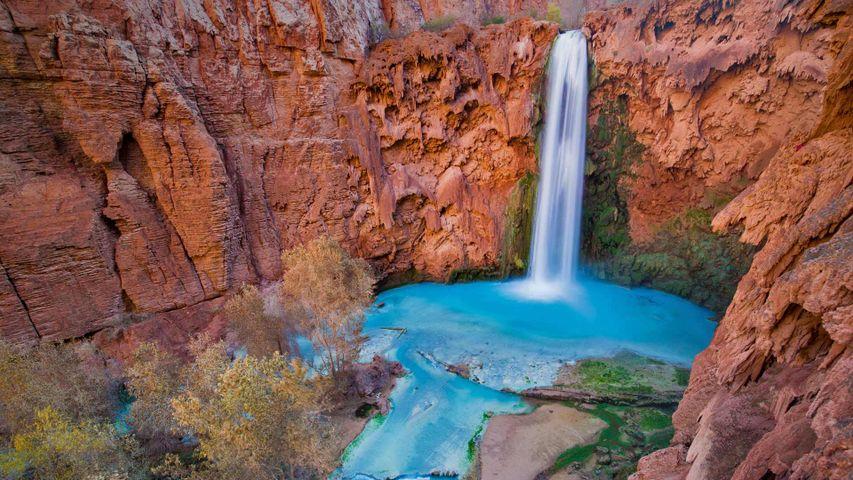 「ムーニー滝」米国アリゾナ州, ハバスキャニオン