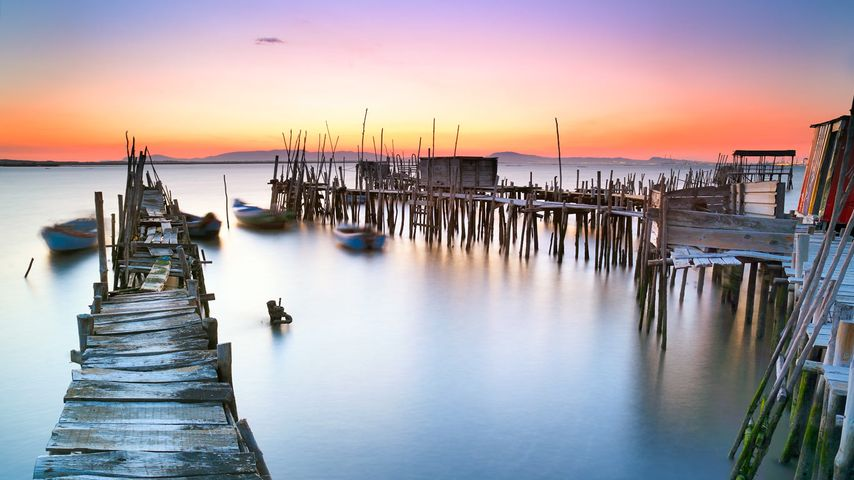 「サド川の船着場」ポルトガル, セトゥーバル