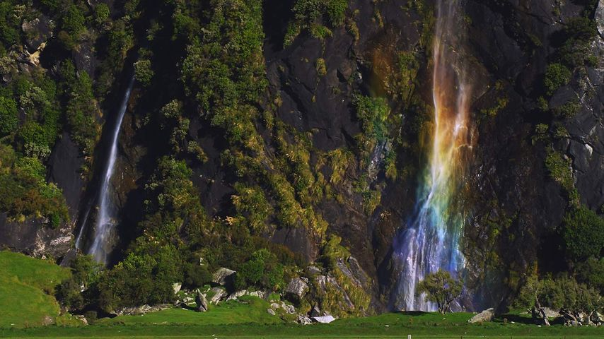 「ウィッシュボーン・フォールズ」ニュージーランド, 南島